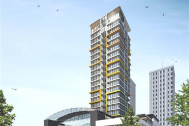 CGI of the tower blocks in Middlesbrough's proposed digital city.