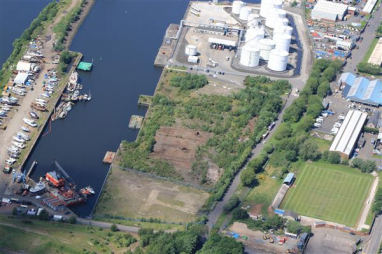 Peel NRE is planning to develop its second waste plastic to hydrogen facility at Rothesay Dock, pictured, on the north bank of the River Clyde, West Dunbartonshire.