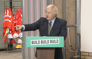 """UK prime minister Boris Johnson has pledged to """"build, build, build"""" the country out of its post-Covid economic difficulties."""
