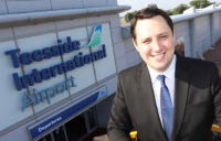 Tees Valley mayor, Ben Houchen, pictured at the newly renamed Teesside International Airport.