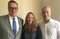 Bentley Systems experts Chris Barron, Claire Rutkowski and Glen Worrall.