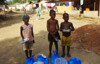 These three children lost their mother, a nurse, to Ebola