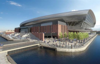 Everton have submitted an amended planning application for a new stadium on Liverpool's waterfront.