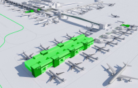 CGI of how Gatwick's Pier 6 western extension will look when complete.