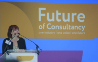 ACE chief executive Hannah Vickers speaking at last year's Future of Consultancy conference in London.