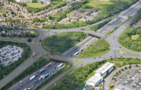 CGI of how the new M6 junction will look when work is complete.