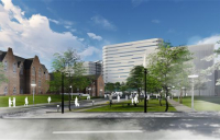 Mott MacDonald has been appointed sustainability, energy and carbon reduction advisor by the Leeds Teaching Hospitals Trust. CGI by Gilling Dodd Architects.