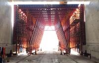Inside the 11,000 tonne concrete structure at Werrington, north of Peterborough.