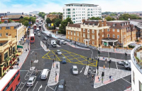 Work to introduce new segregated cycle lanes and upgrade pedestrian crossings at Kew Bridge is set to begin on 12 December.