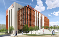 The University of Birmingham's proposed new Molecular Sciences Building, which is set to begin construction in March 2020.