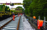 Uxbridge blockade - this summer's big activity with 6km of life expired track replaced.