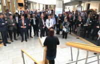 ACE chief executive, Hannah Vickers, speaking at the ACE Scotland summer reception at the Scottish parliament.