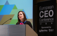 ACE chief executive Hannah Vickers speaking at the European CEO Conference in London.